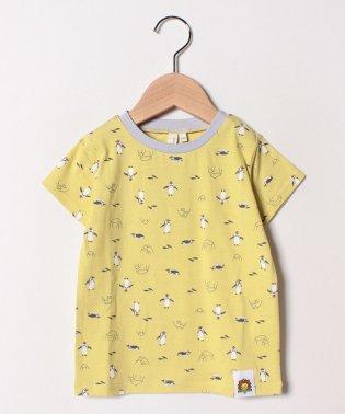 [ズーラシアコラボ]フンボルトペンギン総柄Tシャツ