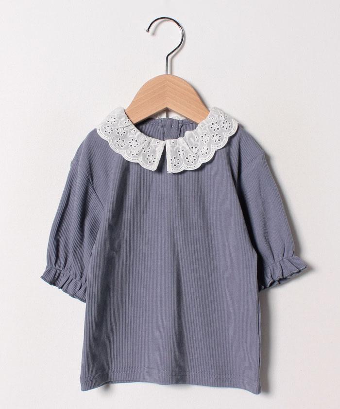 襟付きパフTシャツ