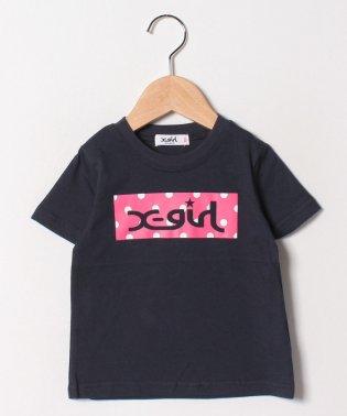 水玉ボックスロゴTシャツ