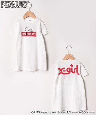 PEANUTSコラボ ボックスロゴスヌーピーTシャツ