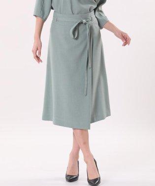 リネン風フレアスカート《KF SHORE》
