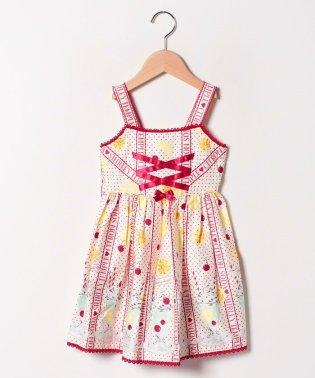 シトラスソーダプリントジャンパースカート(100~130cm)