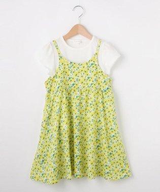 【セット商品】【100cm~150cm】キャミワンピ&Tシャツの2枚セット
