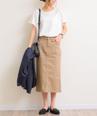【C-3】ストレッチツイル ひざ丈 タイトスカート