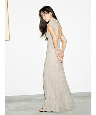 シースルーニットドレス