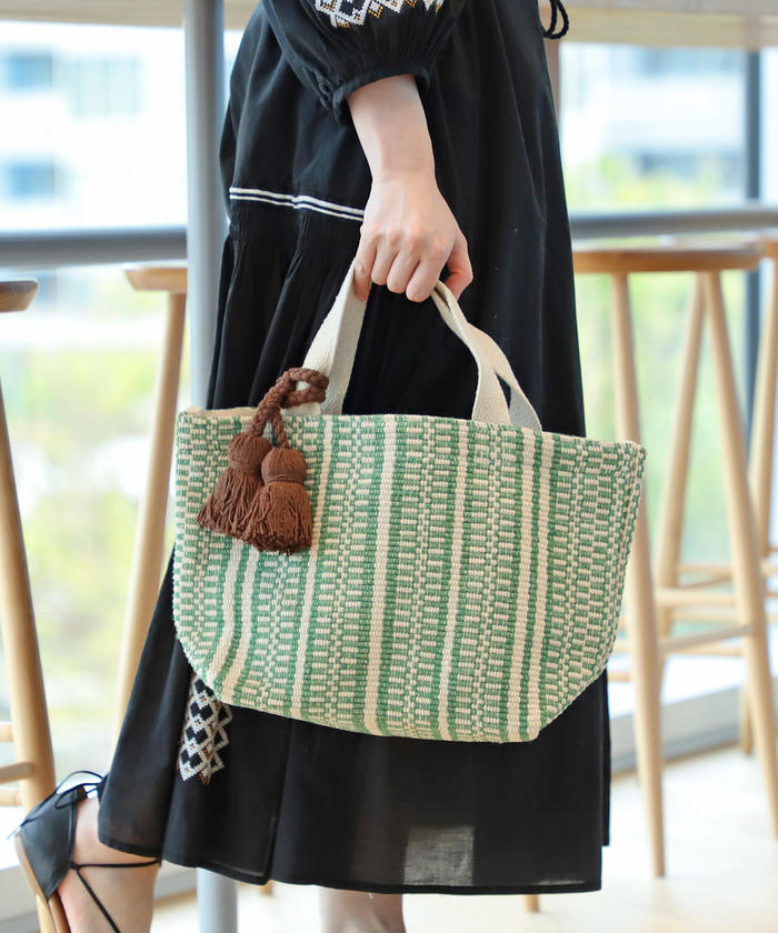 Lilas Campbell / コットン Woven トート