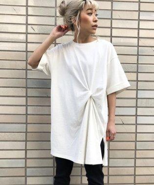 クウボウ天竺ねじりチュニックTシャツ