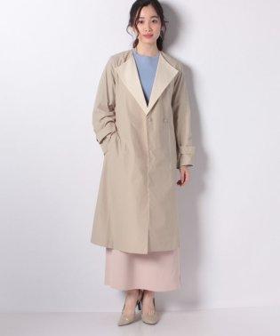 ライトクロス衿配色コート