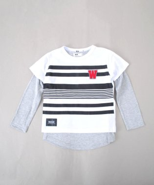 ボーダーTシャツ&ロングTシャツセット(110~130cm)