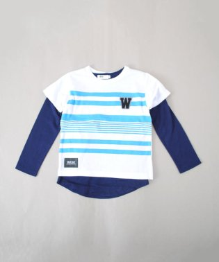 ボーダーTシャツ&ロングTシャツセット(140cm~160cm)