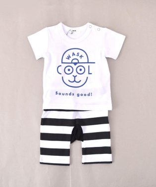 BABY柄ナレTシャツ&ボーダーパンツセット