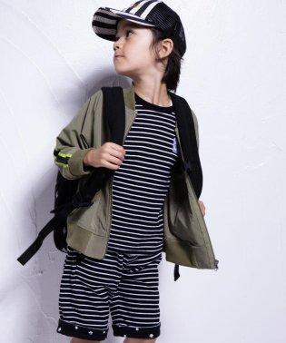 ボーダー×星リバーシブル天竺Tシャツ(110cm~130cm)