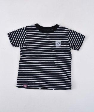 ボーダー×星リバーシブル天竺Tシャツ