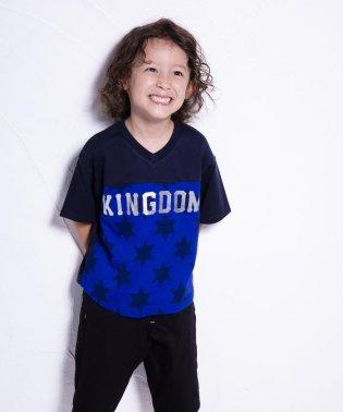 天竺前星柄ワイドTシャツ(110cm~130cm)