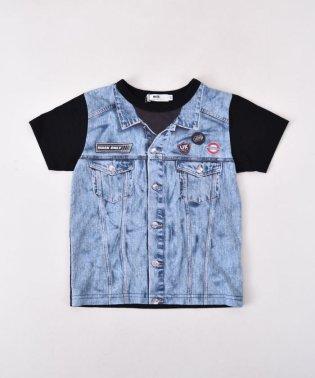 天竺ジージャン風プリントTシャツ(140cm~160cm)