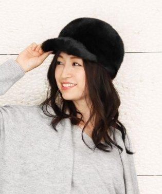 ミンク ファー キャスケット 帽子