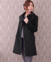 カシミヤ コート ビッグカラー 着丈80cmレディース