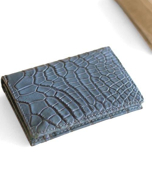 0ff7160c942b (sankyoshokai/サンキョウショウカイ)クロコダイル パスケース IDケース マット 小銭入れ 紙幣入れ
