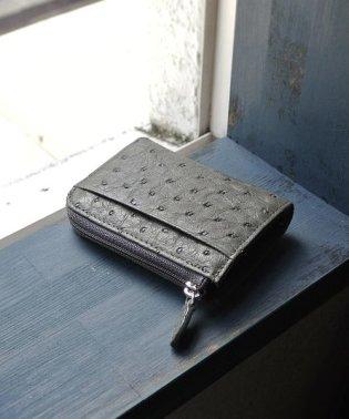オーストリッチ レザー カード&コインケース レディース メンズ