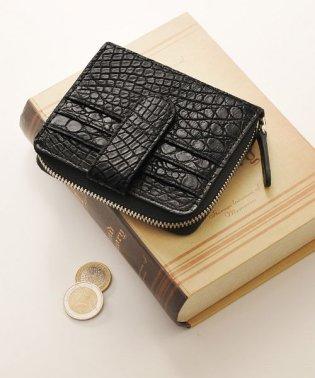 クロコダイル 折り財布 ラウンド ファスナー