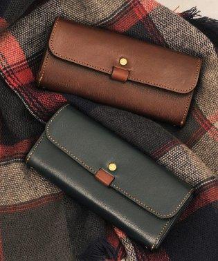 [HALEINE] 日本製 本革レザー 長財布 かぶせ レディース メンズ