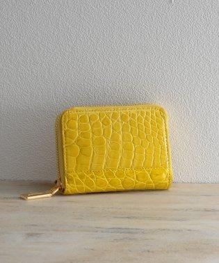 [mieno] クロコダイルレザーミニ財布ゴールドタイプ