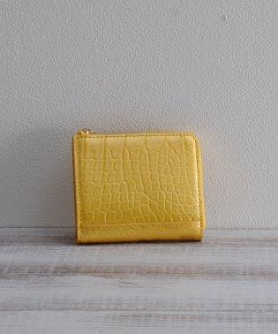 [mieno] クロコダイルレザーパールミニ財布