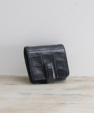 [mieno] クロコダイルレザーミニ財布