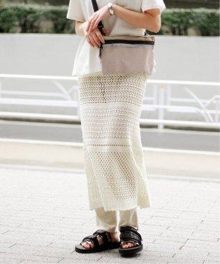 コットンクロシェ ティアードスカート