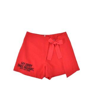 【ニコプチ掲載】クレープツイルリボン付きスカートパンツ