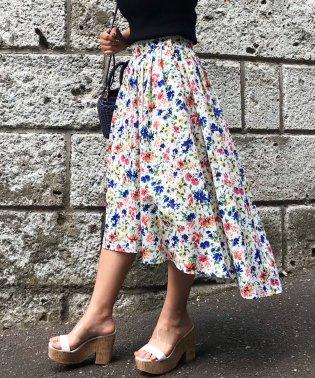 フィッシュテール小花柄スカート