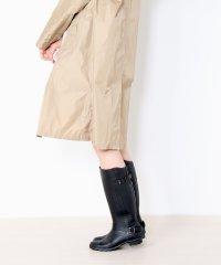 [je'coule] クロコダイル型押し ロング レインブーツ レディース 長靴