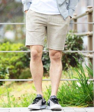 T/Cリップルショートパンツ / ハーフパンツ メンズ ショートパンツ 短パン 膝上 おしゃれ ボトムス