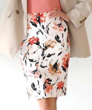 フラワーストレッチタイトスカート