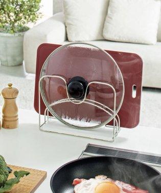 珪藻土+wire 鍋ふた・まな板スタンド
