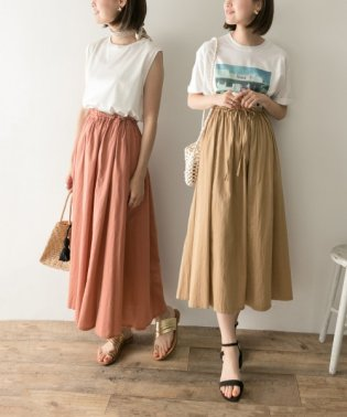 リバーシブル2WAYギャザースカート