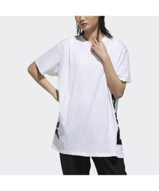 アディダス/レディス/W ID 半袖 サイドCAPリニア グラフィック Tシャツ