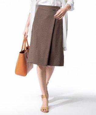 【マガジン掲載】リネンライク ストレッチ ラップスカート (検索番号H96)