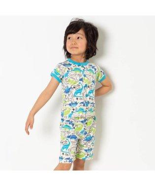 きょうりゅう柄前開きパジャマ 6分丈