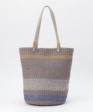 ミックス編みカゴトートバッグ