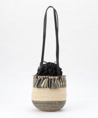 ミックス編みカゴショルダーバッグ