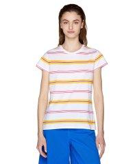 コットンモダールマルチボーダーベーシック半袖Tシャツ・カットソー