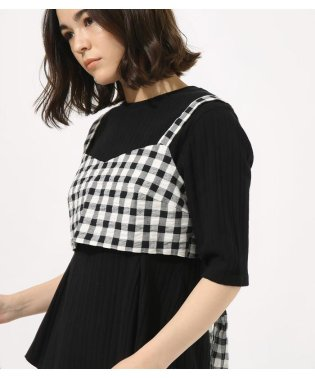 GINGHAM CHECK BUSTIER TOPS