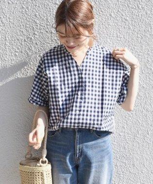 SHIPS Days STANDARD:ギンガムスキッパー ショートスリーブシャツ ◇