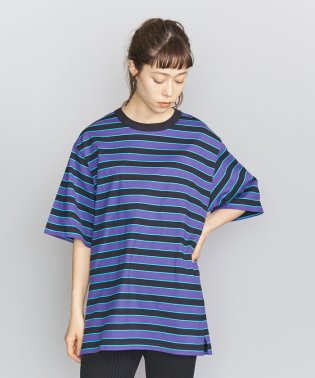 BY マルチボーダー6分袖Tシャツ