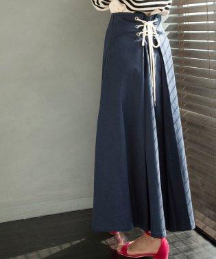 【WEB限定】バックレースアップロングスカート