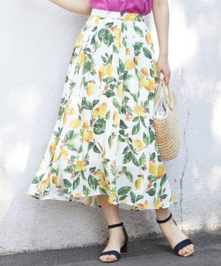 フルーツ柄ロングスカート