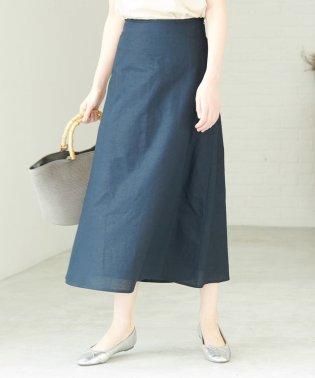 【WEB限定】綿麻ロングフレアスカート