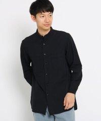 ロングシャツ(バンドカラー)