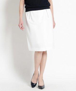 【洗える】ジップポケットラップ風スカート